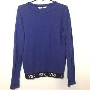 Victoria Secret VSX Blue Crew Neck Sweater Size S